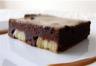 Carrés fondants chocolat banane sauce caramel (sans beurre)