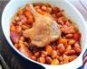 Cassoulet de viandes (porc canard agneau) en cocotte
