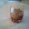 Caviar d'aubergine sur coulis de tomate