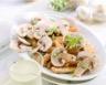 Champignons de paris crus en salade