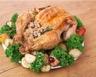 Chapon farci aux noisettes sauges et blancs de poulet