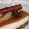 Cheese-cake à la poire au vin épicé façon poires pochées