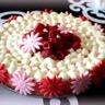 Cheesecake aux framboises et eau de rose