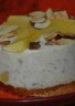 Cheesecake aux pommes parfumé aux dattes citron et amande