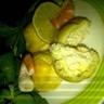 Choux aux crevettes et Cottage Cheese