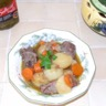 Cocotte de joues de porc en curry aux petits légumes