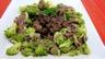 Coeurs de canard légumes et sauce béchamel au vin rouge