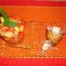 Coeurs de muffins au melon confit pépites de nougat au miel de lavande et salade ananas fraise à...