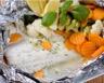 Colins au citron et légumes en papillotes