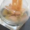 Compotée de poire au foie gras mouillette de pain d'épices