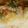 Confit de pommes de terre à la crème de foie gras