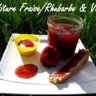 Confiture rhubarbe/fraise & vanille au Cooking Chef