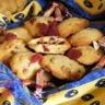 Cookies aux fraises séchées / aux pépites de chocolat blanc et carambar au nougat