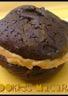 Cookies macarons au chocolat noir & beurre de cacahuète