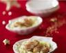 Coquilles de Saint Jacques gratinées et tagliatelles de légumes