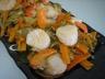 Coquilles Saint-Jacques au gingembre façon chinoise