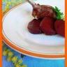 Côte d'agneau betterave balsamique et sauce yaourt curry