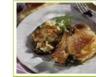 Côtes de porc fourrées et bettes gratinées