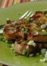 Cotes de porc marinées à la plancha