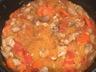 Courge spaghetti au poulet et à la tomate