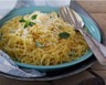 Courge spaghetti aux lardons et crème fraîche