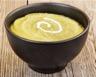 Courgettes et pois cassés au curcuma en soupe