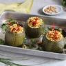Courgettes farcies au couscous quinoa noir et graines de lin