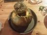 Courgettes farcies aux champignons de paris et au chèvre frais.