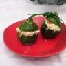 Courgettes farcies fromage frais saumon