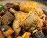 Couscous avec sauce dinde pommes de terre et légumes
