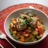 Couscous de quinoa et boulettes d'agneau sans gluten