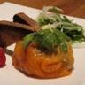 Coussin de saumon fumé et tagliatelles de légumes