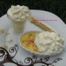 Crème brûlée courgette-saumon et sa chantilly de chèvre