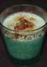 Crème courgette basilic relevée au chorizo et aux tomates séchées