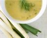 Crème d'asperges aux poireaux