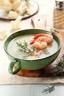 Crème de chou-fleur et ses langoustines