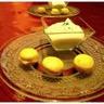 Crème de chou-fleur et son macaron glacé à la mangue