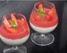 Crème vanillée et son coulis de fraises mentholées (IG bas)