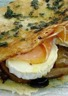 Crêpe méditéranéenne au jambon cru et chavignol