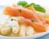 Crêpes fines aux asperges et au saumon fumé sauce au vin blanc