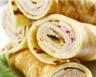 Crêpes roulées au jambon et fromage