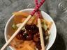 Crevettes marinées sautées à l'asiatique