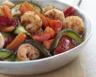 Crevettes sautées aux légumes croquants bio