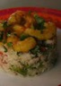 Crevettes thai sur taboulé de chou-fleur aux saveurs asiatiques