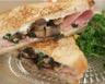 Croque au jambon champignons et fromage frais