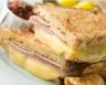 Croque-monsieur aux pommes gruyère fondu et jambon blanc