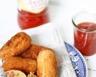 Croquettes de pommes de terre au chou lardons et ketchup maison