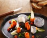 Crottin de Chèvre Cendré Rians marmelade de courge à la muscade cœur d'endive acidulé