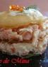 Croustillant de saumon fumé et de crabe