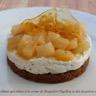 Croustillant spéculoos à la crème de roquefort Papillon et dés de poires au miel